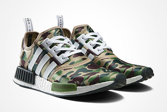Bape X Adidas Nmd R1 Camo Pack Feature