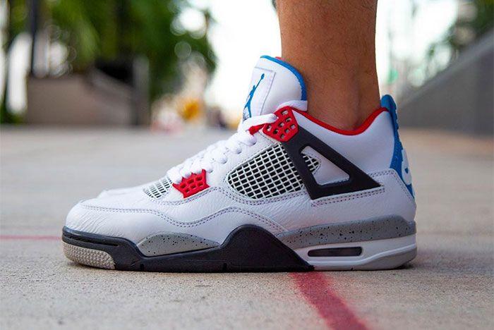 Air Jordan 4 What The On Foot Left 2