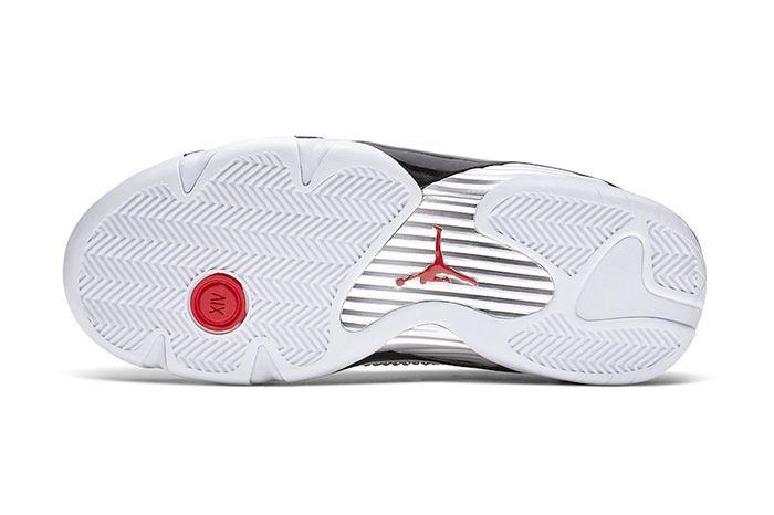 Supreme Air Jordan 14 White University Red Bv7630 106 Release Date Outsole