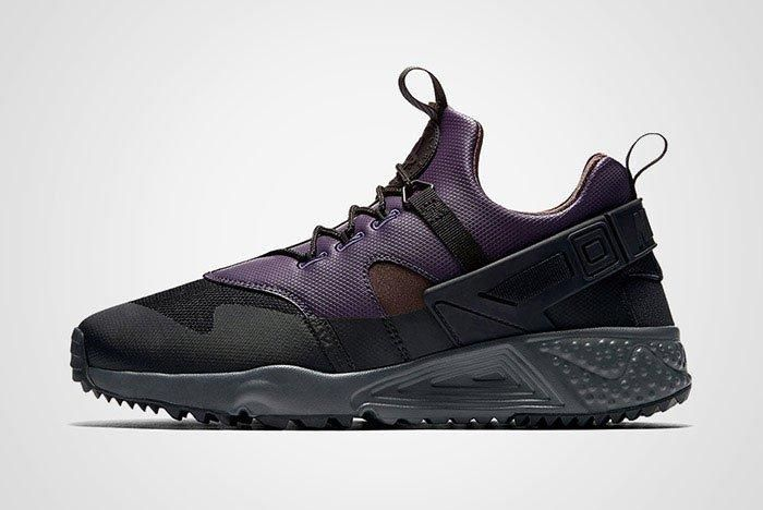 Nike Air Huarache Utility Black Purple Brown Thumb