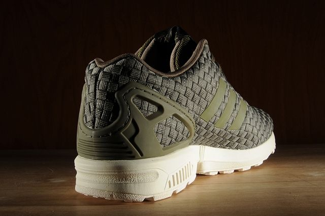 Adidas Zx Flux Reflective Weave Olive 6