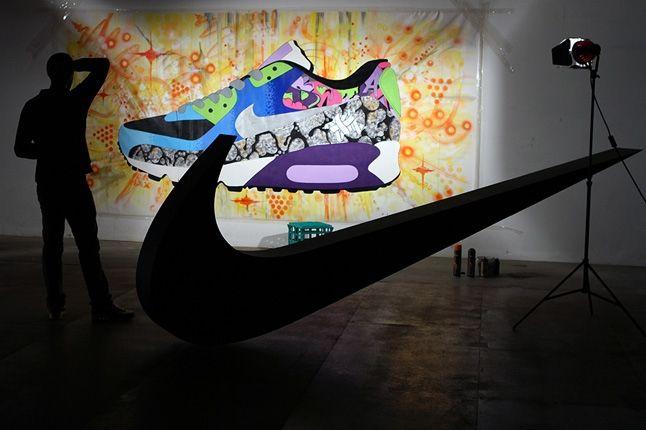 Sekured Nike Airmax 90 Time Lapse Mural Inprogress 2 1