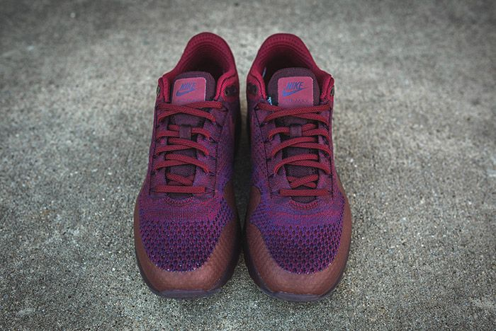 Nike Air Max 1 Ultra Flyknit Grand Purple Team Red 5
