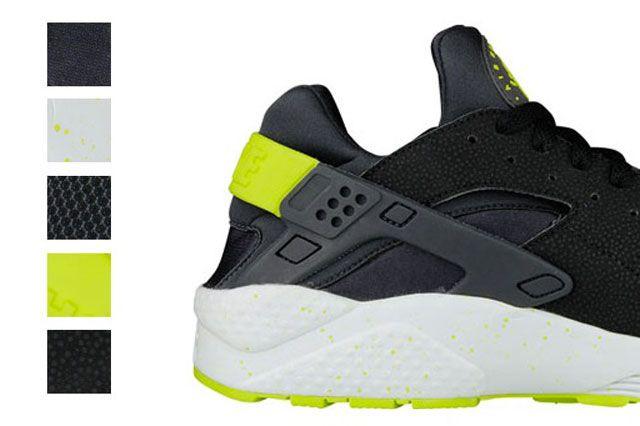 Nike Air Huarache Black Venom Green 21