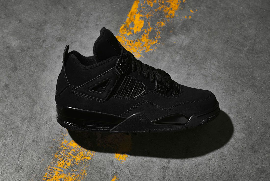 Air Jordan 4 Black Cat 2020 Retro Jd Sports Lateral
