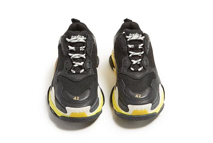 Triple S Black And Yellow 1