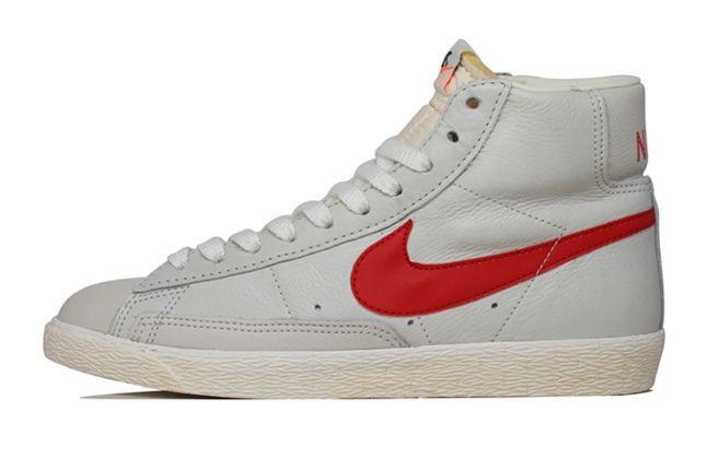 Nike Vintage Blazer Leather White Red 1