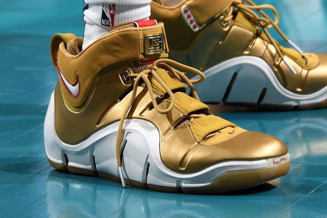 Nike Lebron 4 All Star Gold