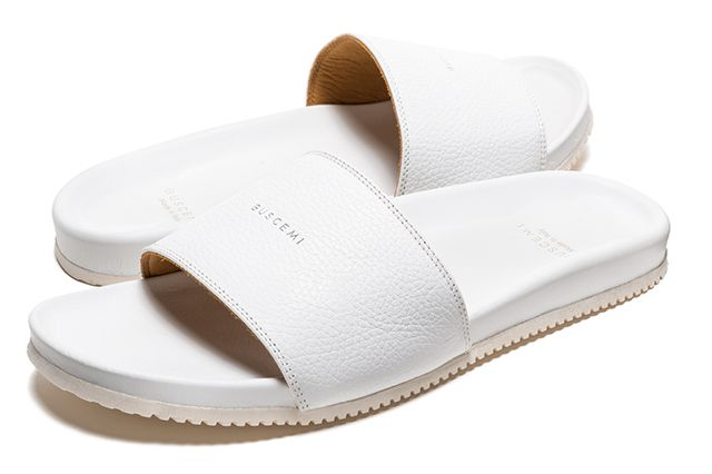 Buscemi Calfskin Leather Slides 9