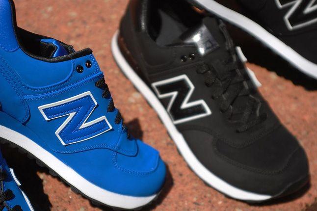 New Balance 574 Monochrome Nubuck Pack 1