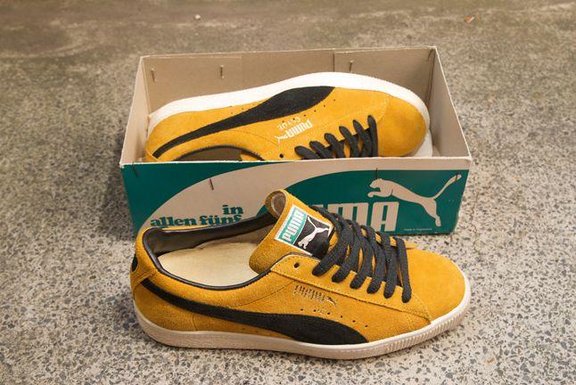 Puma Clyde Vintage Yellow Black 1