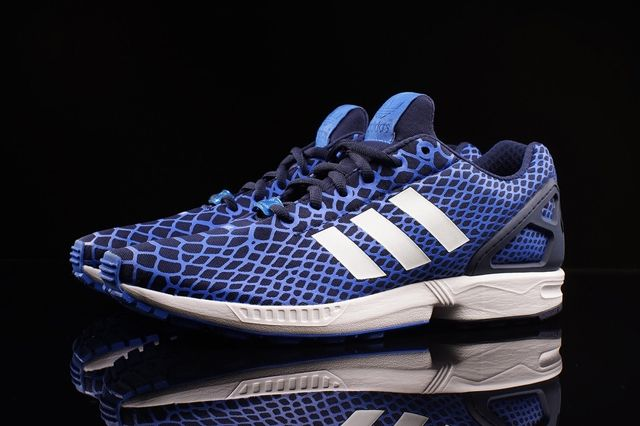 Adidas Zx Flux Techfit Blue Snake 2