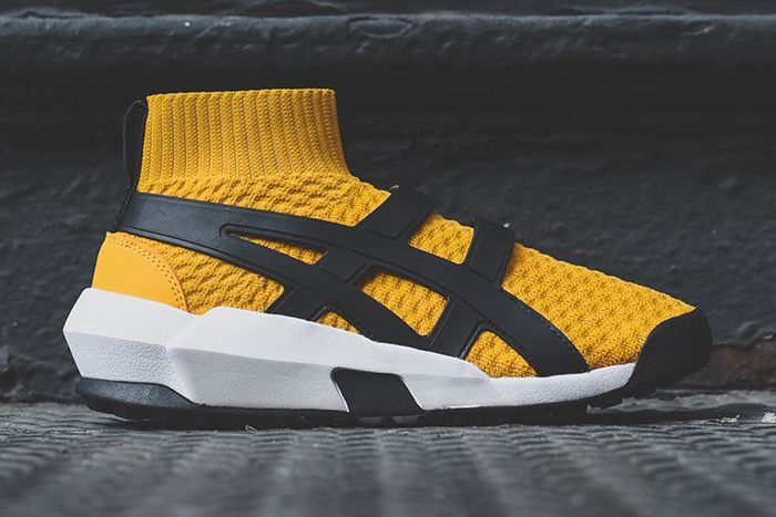 Asics Ap Knit Trainer Tiger Yellow Black Ai1183A418 750 Release Date Lateral