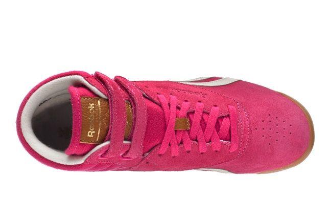 Reebok Freestylehi Suede Pink Heel Aerial 1