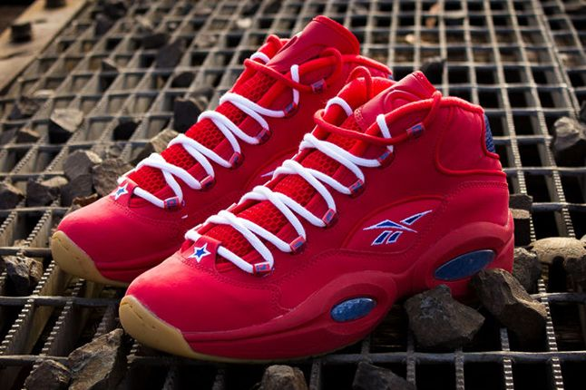 Packer Shoes Reebok Question Part 2 Red Quater View Pair 1