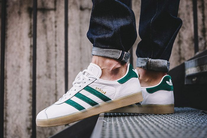 Adidas Gazelle White Green Gum 5