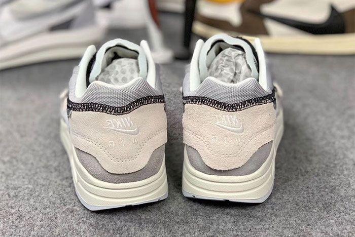 Nike Air Max 1 Inside Out White Black Grey 12 Pair Heel