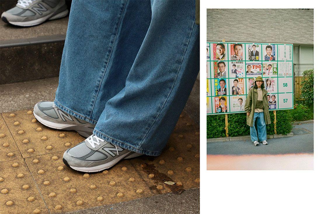 New Balance 990V5 Biancissimo Afew Japan Editorial 2 Wide Leg Jeans