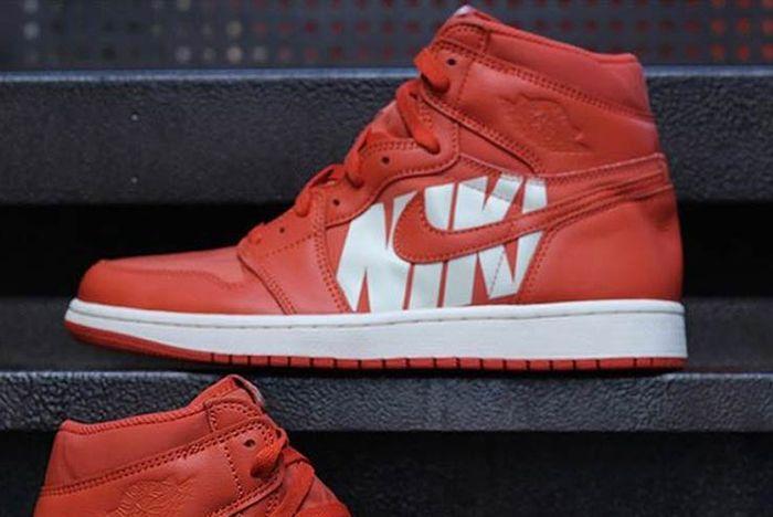 Air Jordan 1 Big Logo Orange 23 Sneaker Freaker