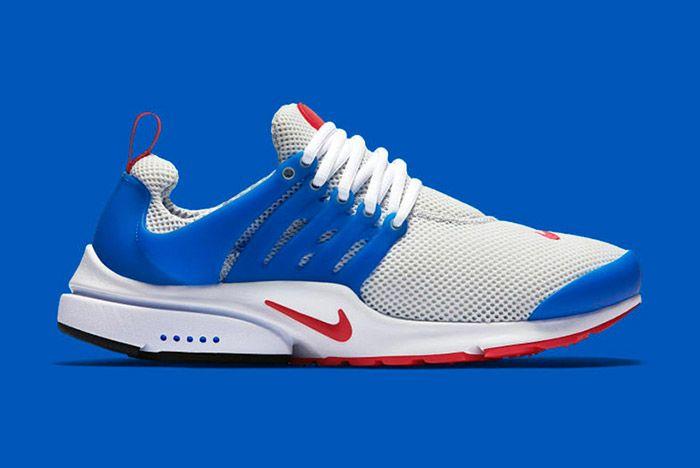 Nike Air Presto Light Grey Blue Red