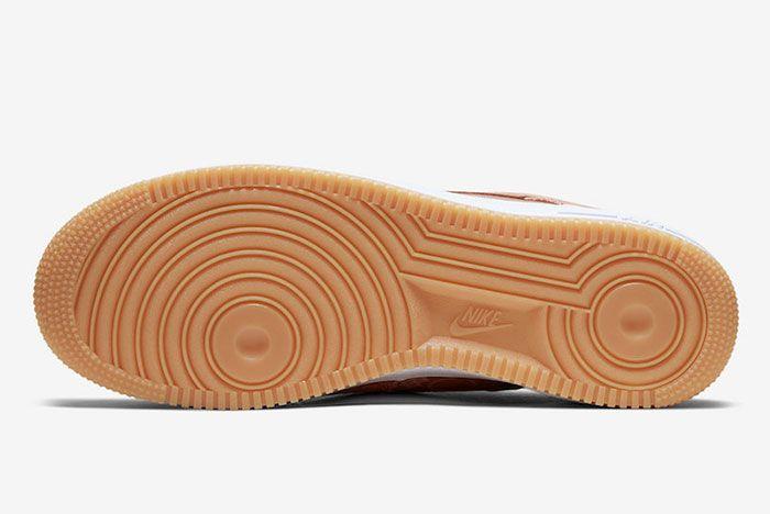 Clot Nike Air Force 1 Rose Gold Cj5290 600 Sole