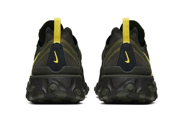 Nike React Element 55 Oregon Fighting Ducks Release Date Heel