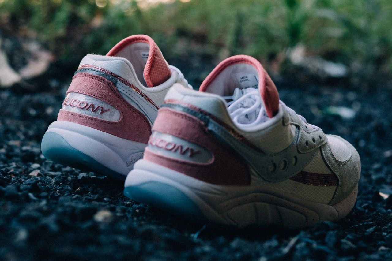 Saucony Aya Peaches and Cream Heel