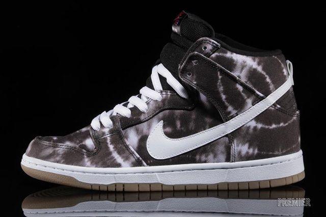 Nike Sb Dunk High Black White Tie Dye 2