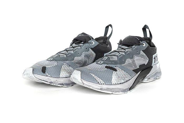 11 By Boris Bidjan Saberi X Salomon Spring Summer 2020 Footwear Blue Low Lateral Three Quarter Angled Side Shot