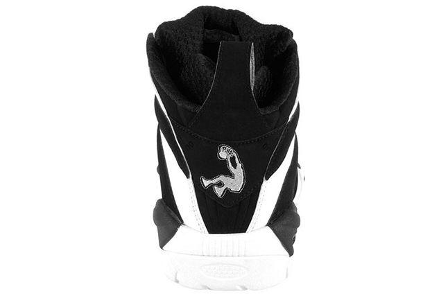 Reebok Shaqnosis Black White Heel 1