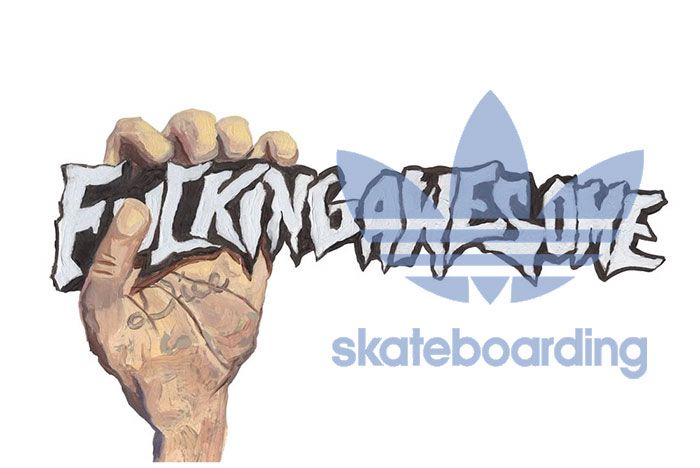 Fucking Awesome X Adidas Skateboarding Header Mock