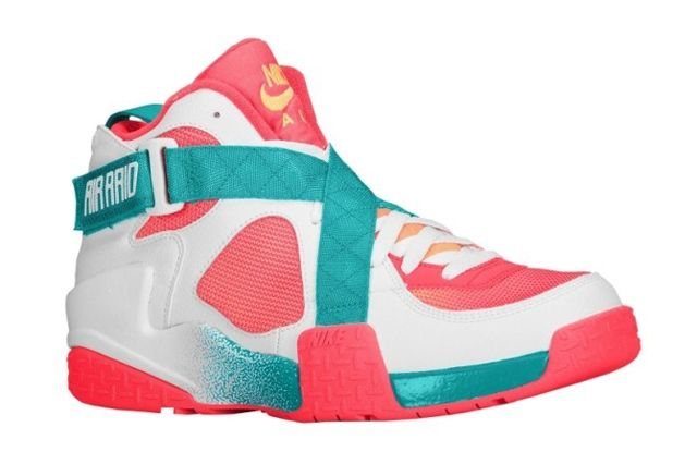 Nike Air Raid White Atomic Mango Turbo Green Laser Crimson