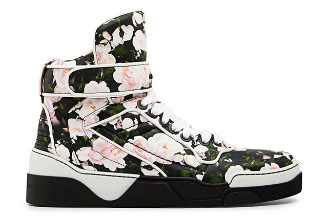 Givenchy Floral Print Leather Tyson High Top Sneaker
