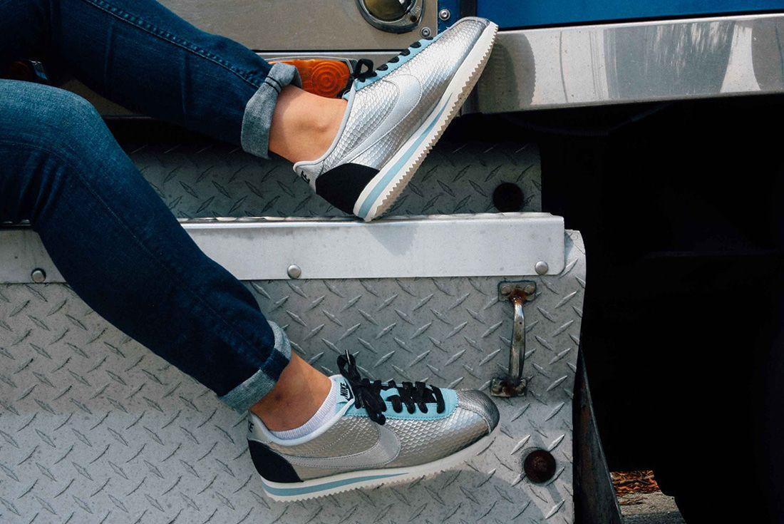 Nike Cortez Womens Metallic Silver 1
