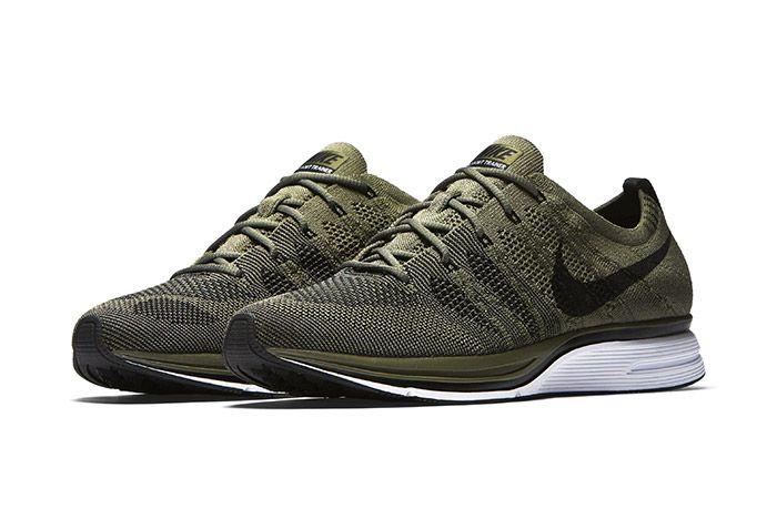 Nike Flyknit Trainer Medium Olive 1