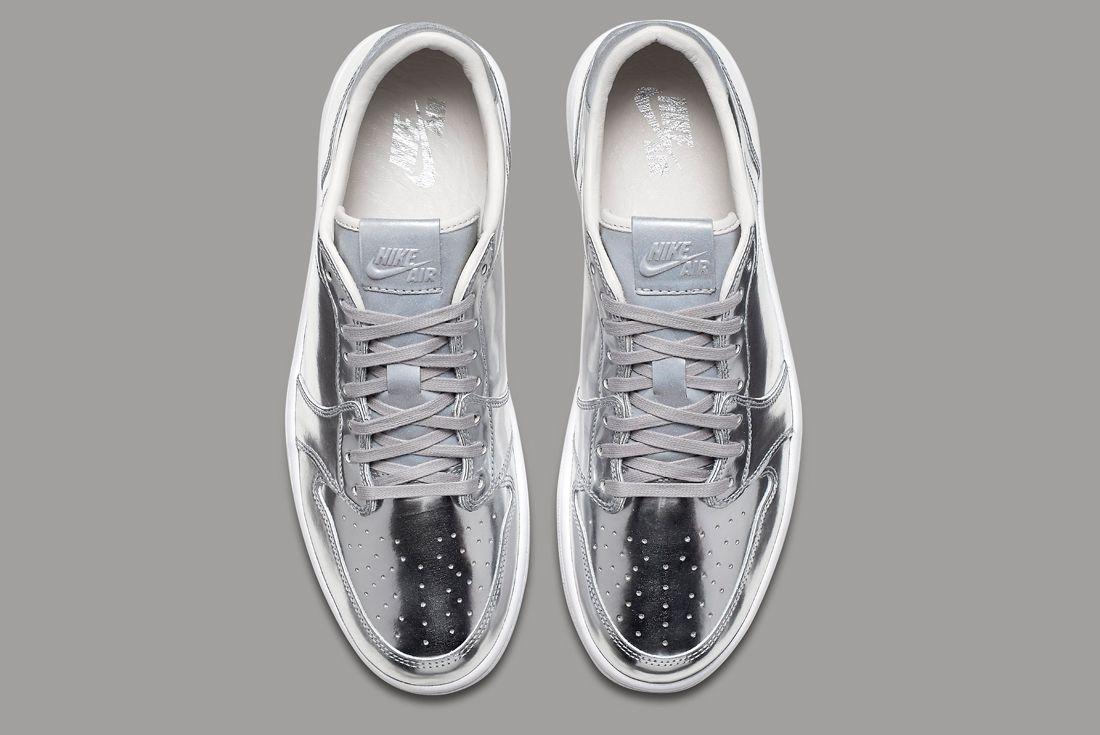 Air Jordan 1 Low Pinnacle Silver 3