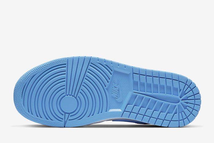 Air Jordan 1 Low Unc University Blue White Ao9944 441 Sole