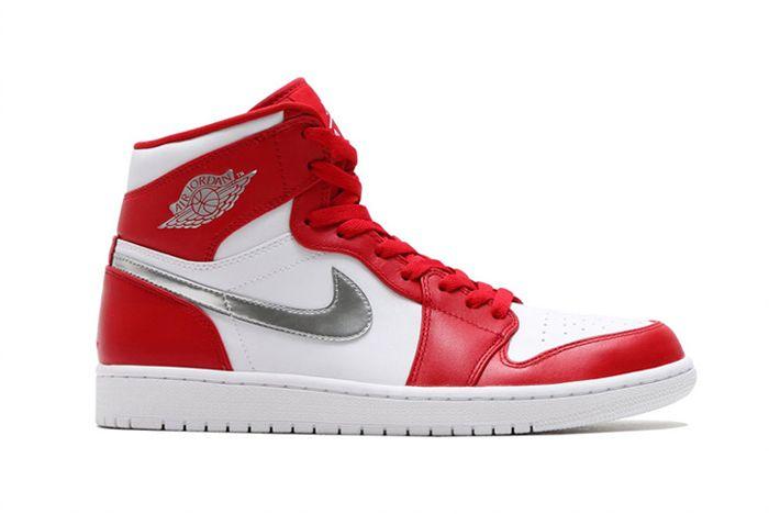 Air Jordan 1 High Redsilverwhite1