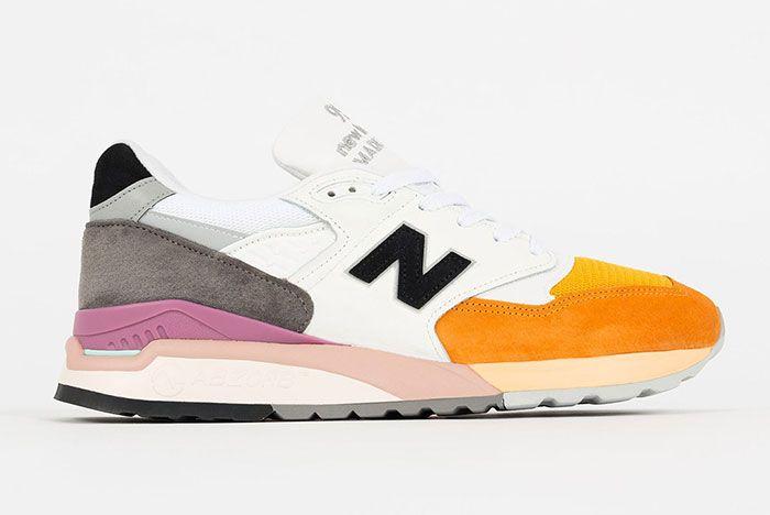 New Balance M998 White Orange 1 Side