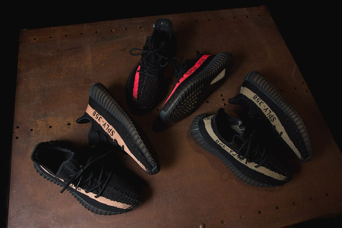 Adidas Originals Yeezy Boost 350 V2 Black Copper Solar Red Green 3