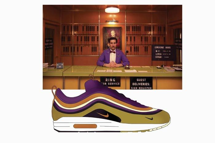 Wes Anderson Sneaker Illustration Air Max 97