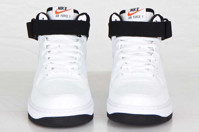 Nike Air Force Mid White Black White 7