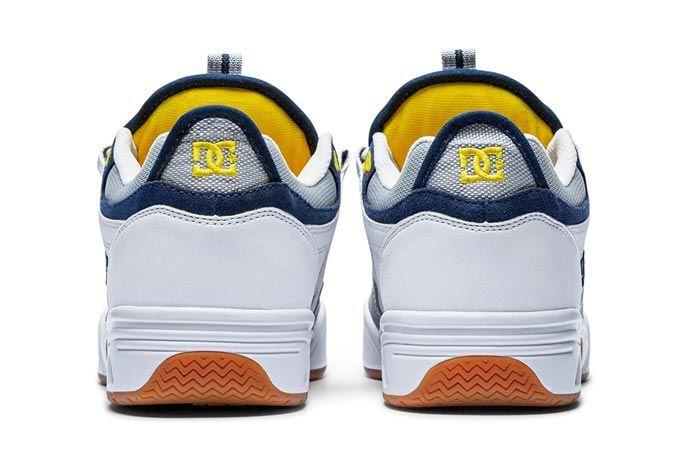 Dc Shoes Kalis Og White Grey Blue Heels