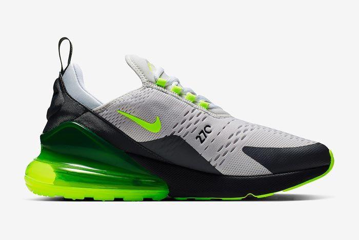 Nike Air Max 270 Platinum Tint Volt Medial