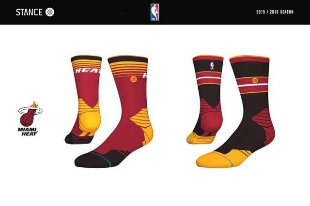 Miami Heat Stance Nba Sock Design