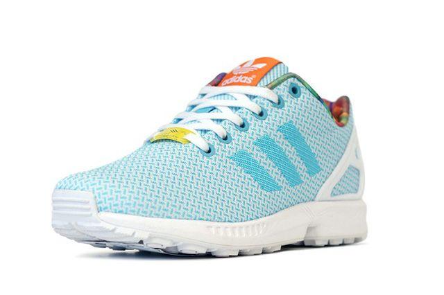 Adidas Originals Zx Flux Weave Light Aqua 1