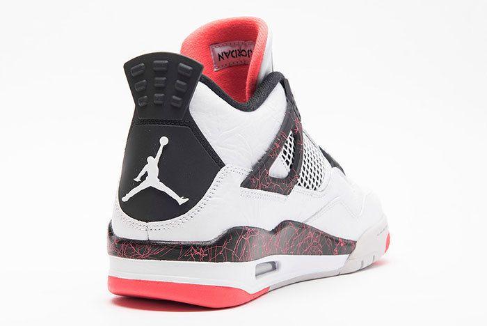 Air Jordan 4 Retro White Black Bright Crimson Pale Citron 3