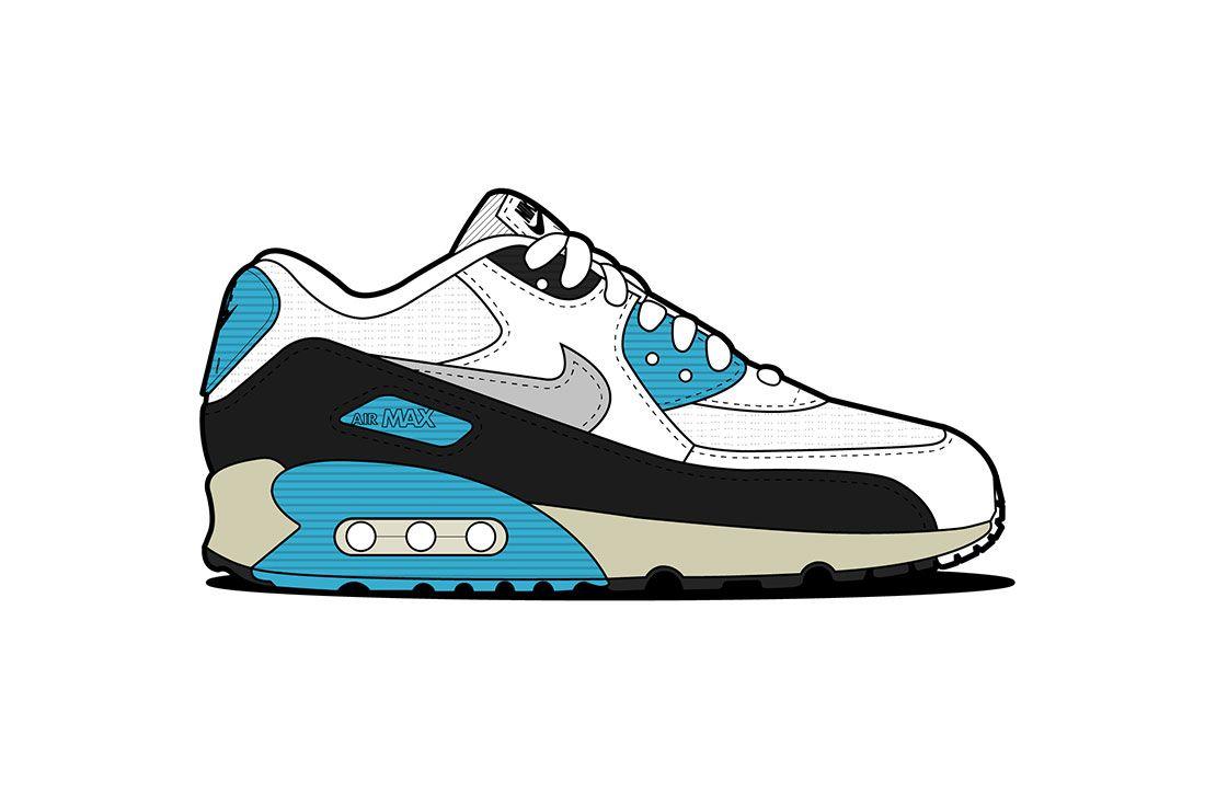 Air Max 90 01 Laser Blue