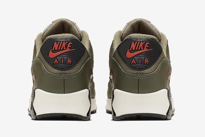 Nike Air Max 90 Essential Khaki Heels