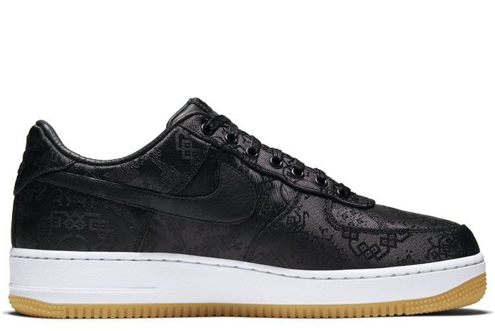 Nike Air Force 1 Clot Black Silk Right Medial
